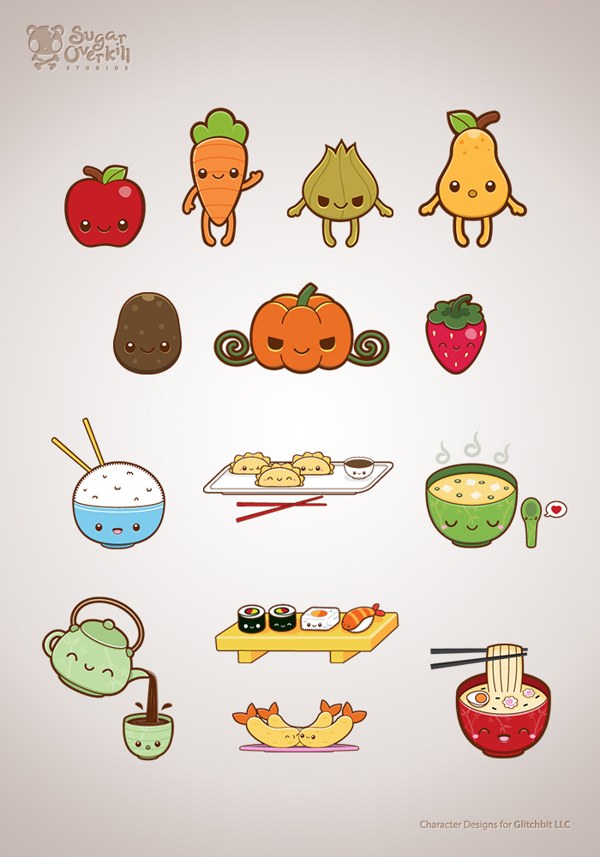 600x857 Cutekawaii Food Illustration Set By Michele Liza Pelayre, Via