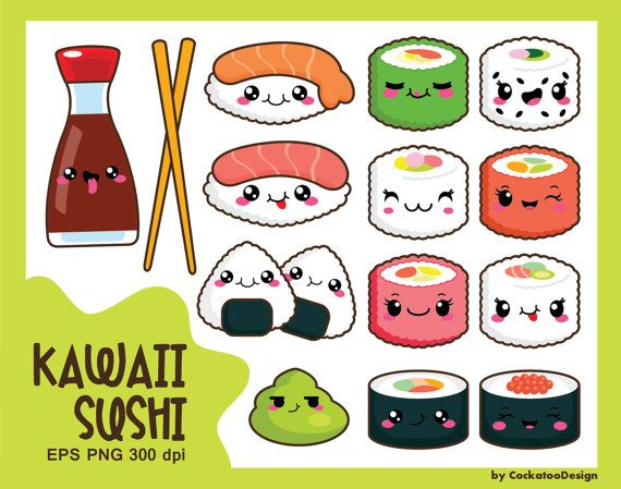 570x449 Kawaii Clip Art, Kawaii Sushi Clip Art, Kawaii Sushi Clipart, Cute