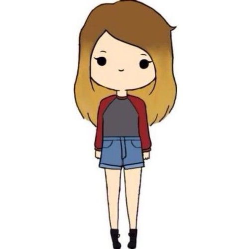 500x500 Chibis Featuring Polyvore Fillers Chibis Anime Backgrounds Doodles