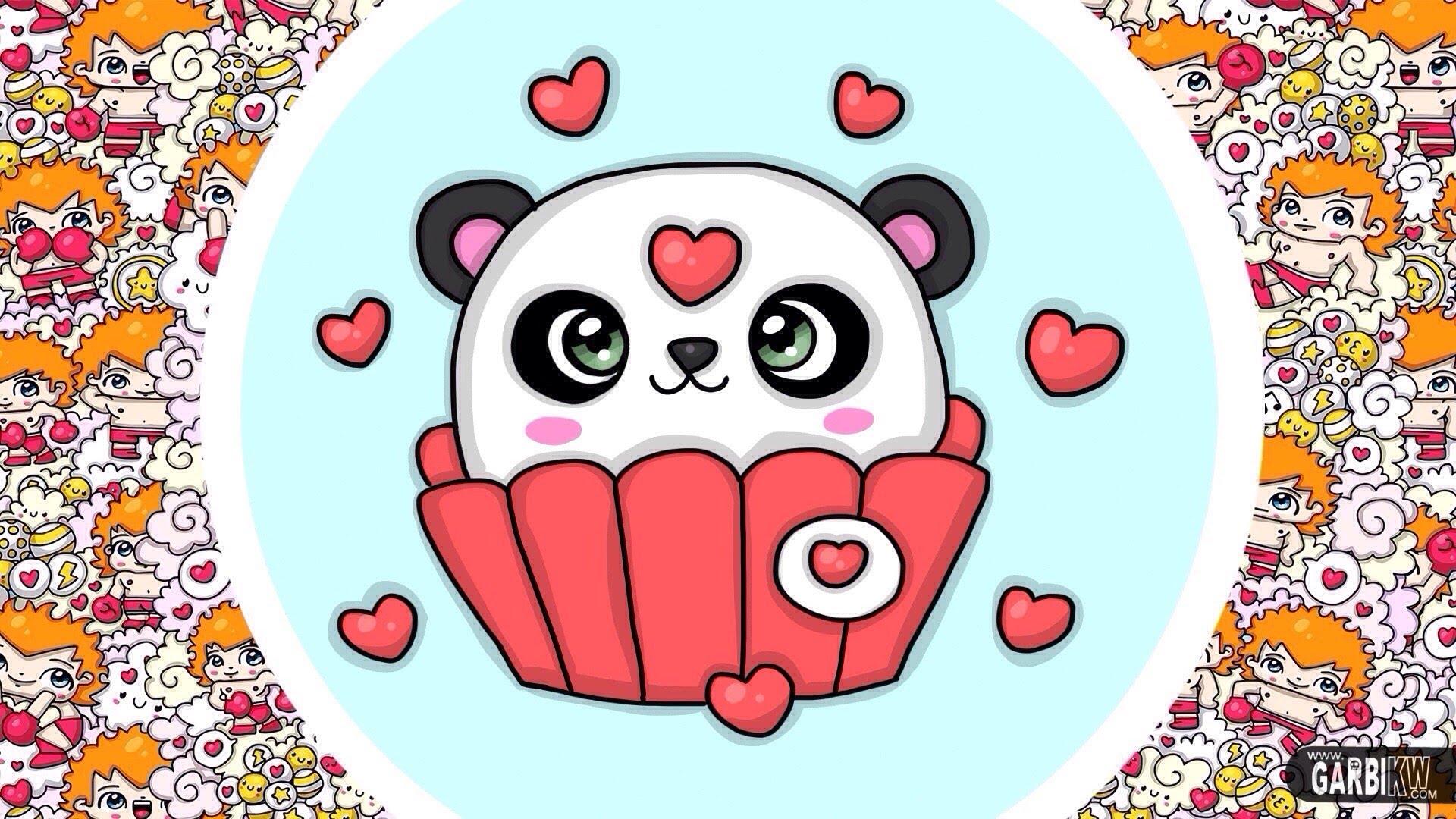 1920x1080 How To Draw Kawaii Panda Cupcake