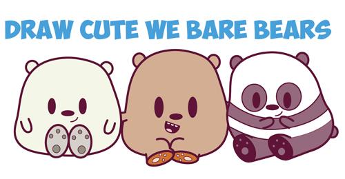 500x260 How To Draw We Bare Bears (Cute Kawaii Chibi Baby Style