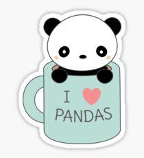 210x230 Kawaii Pandas Drawing Stickers Redbubble