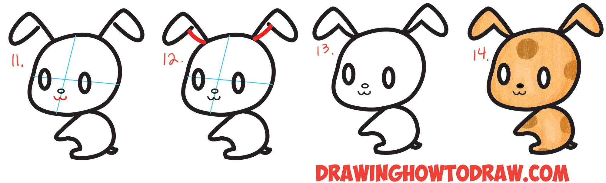 2000x604 How To Draw Cute Chibi Kawaii Characters With Number 3 Shapes