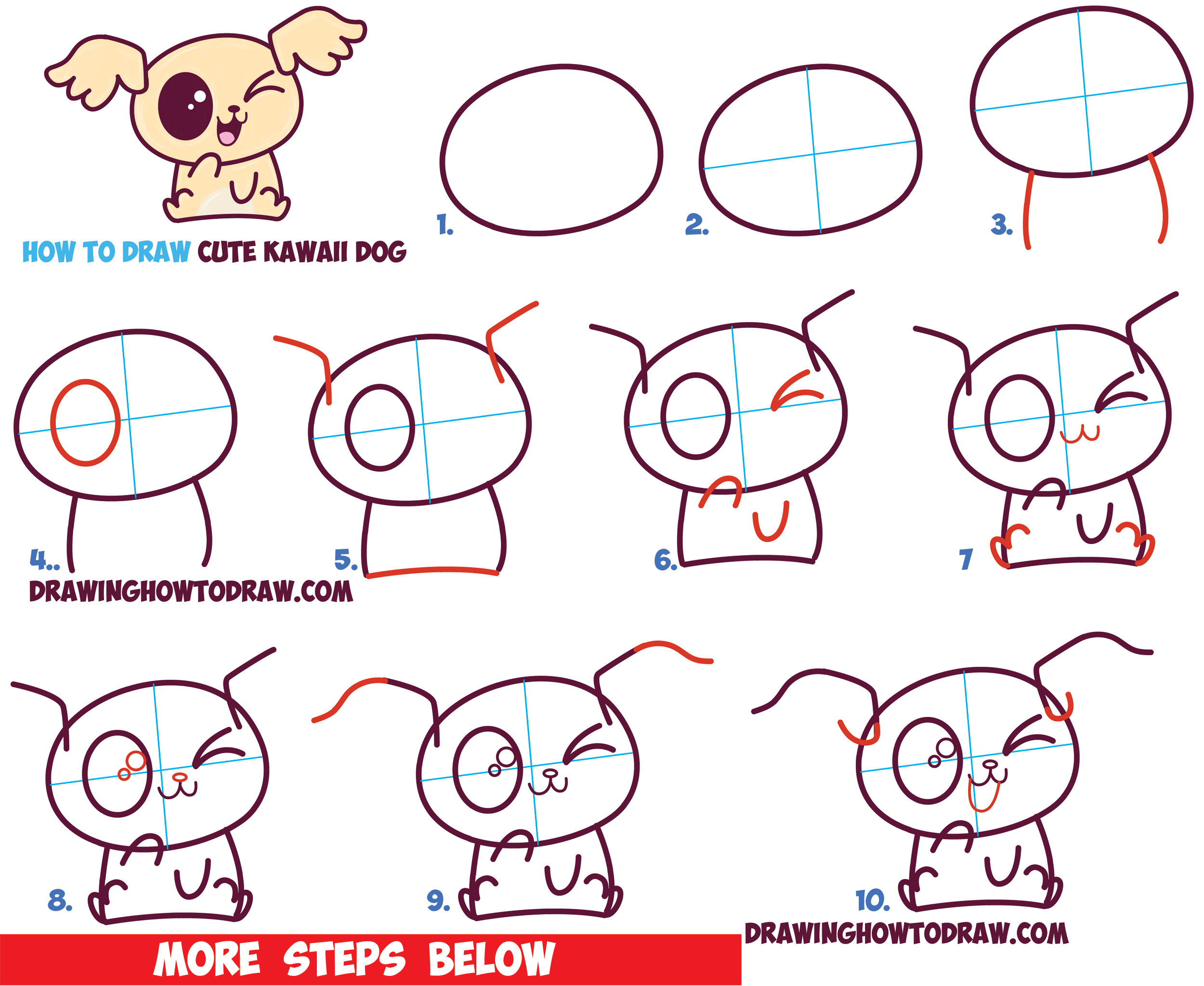 2500x2048 How To Draw Cute Kawaii Chibi Puppy Dogs With Easy Step By Step