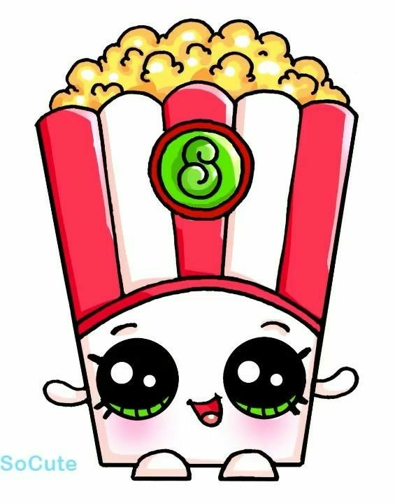 565x720 Sevimli Karakterler Popcorn, Kawaii