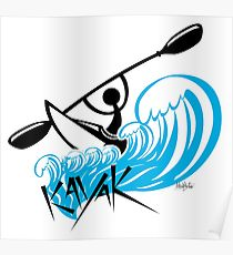 210x230 Kayak Drawing Posters Redbubble