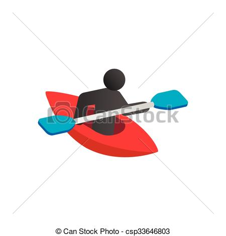 450x470 Kayak Isometric 3d Icon On A White Background. Kayaking Vector