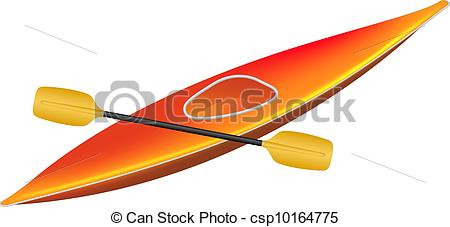 450x227 Kayak With Paddle Isolated On White Background Vectors