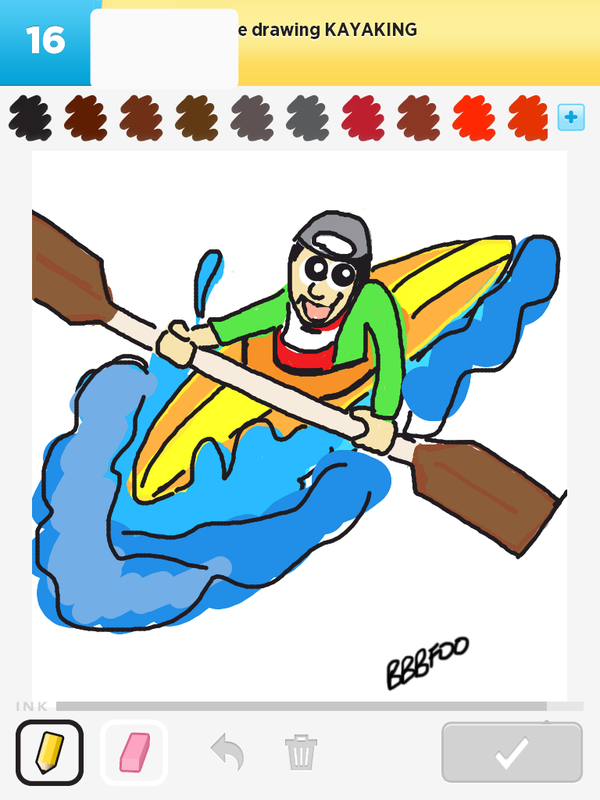 600x800 How To Draw Kayaking