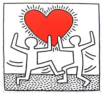 350x321 Haring Heart2inlove Tattoos Keith Haring And Drawings