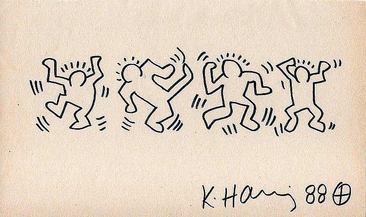 750x445 Keith Haring Drawing Dancing Men Arte Keith