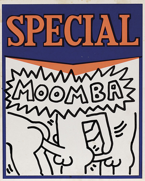500x626 Moomba Drawing Explicit Keith Haring Ink For Sale