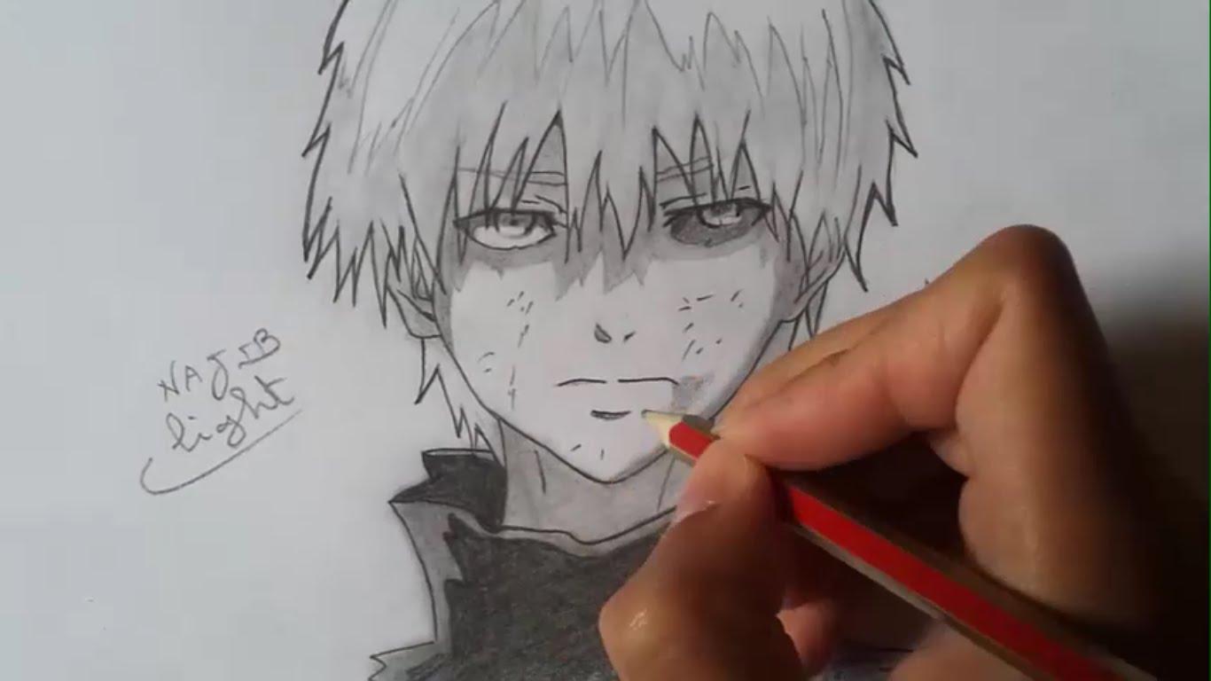 1366x768 Drawing Kaneki Ken From Tokyo Ghoul (Pencil)