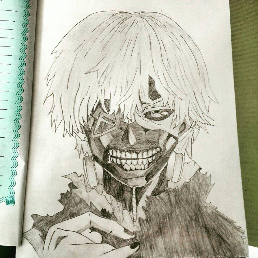 894x894 Ken Kaneki Drawing By Tarora98