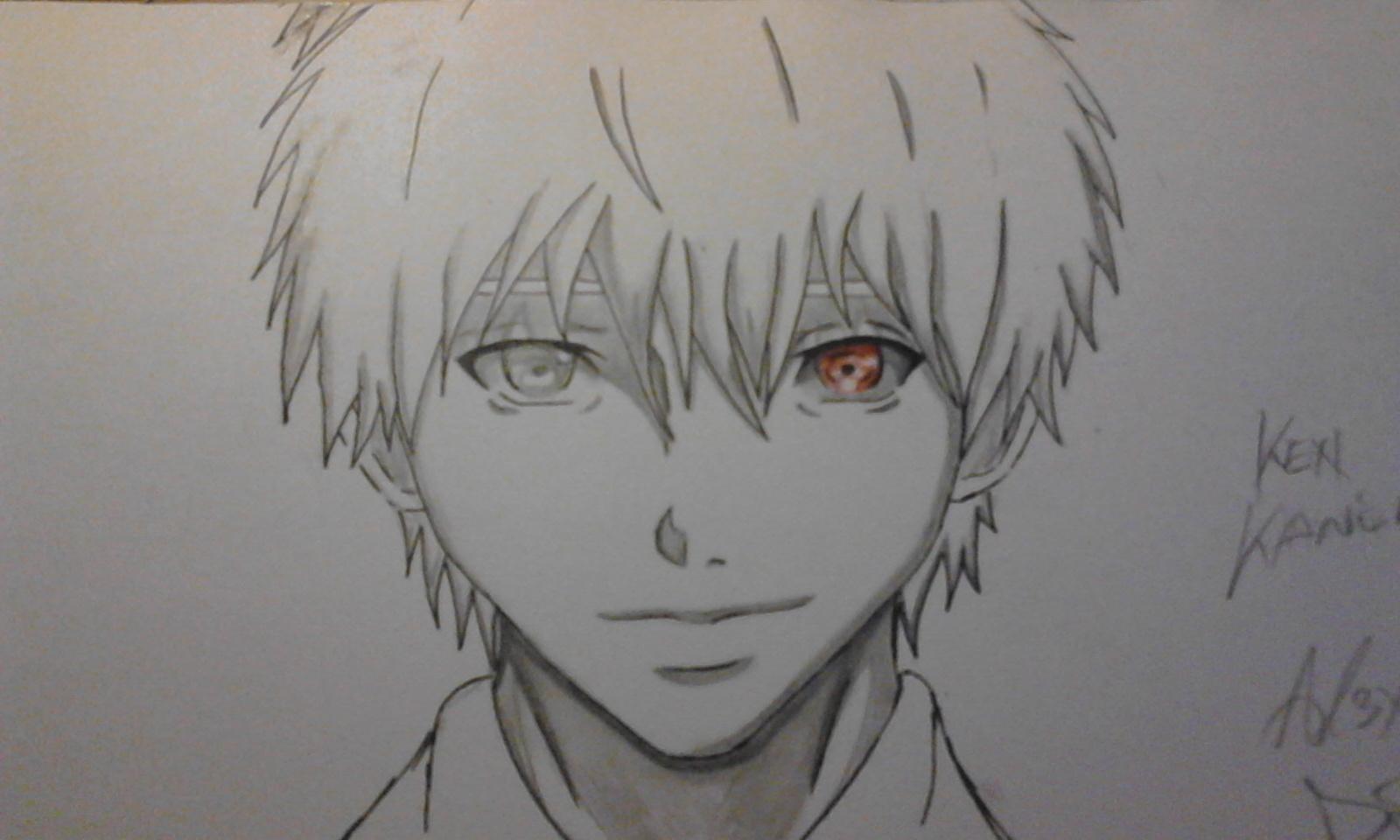 1600x960 Kaneki Ken (Like Anime 95%) My Draw Challenge By Al3x796