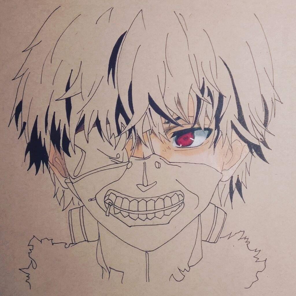 1024x1024 Drawing Tutorial How To Draw Kaneki Ken From Tokyo Ghoul