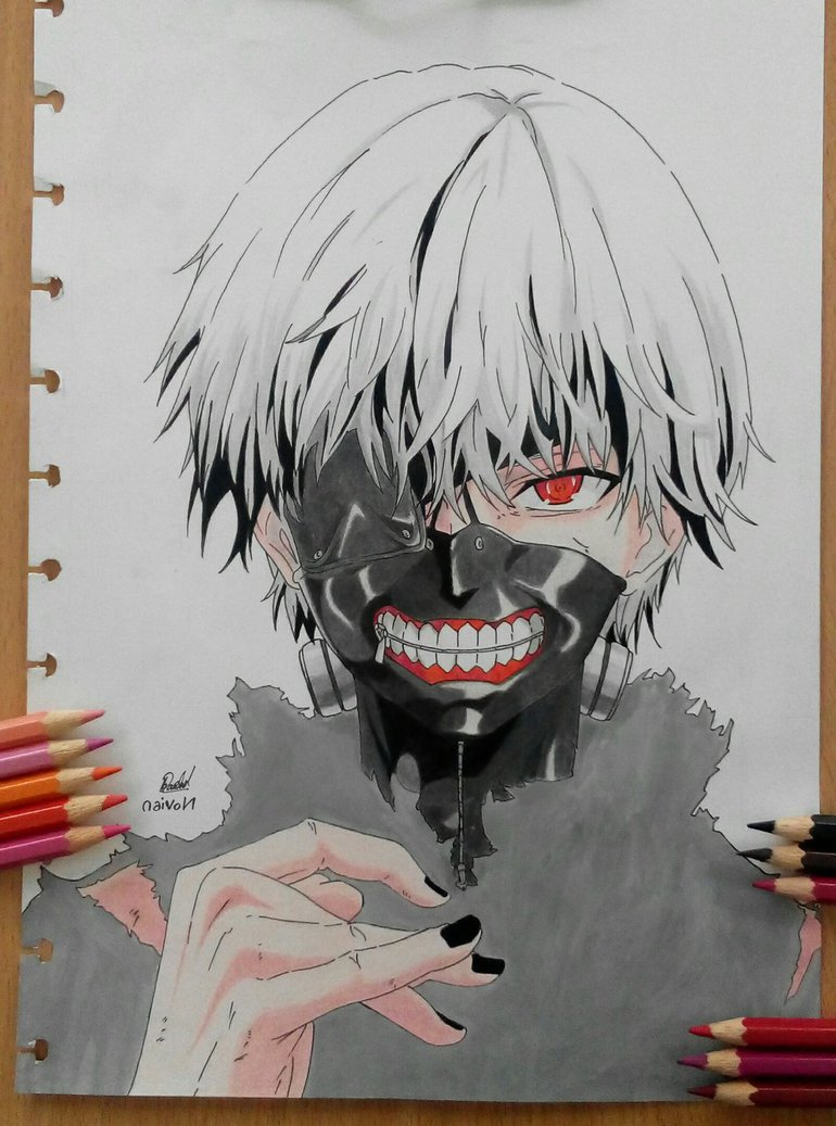 770x1037 Drawing Kaneki Ken From Tokyo Ghoul S2 By Noviankun19