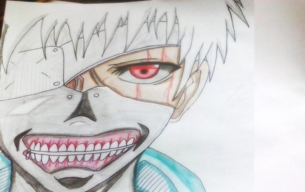 1024x645 Ken Kaneki Mask Draw ) By Al3x796