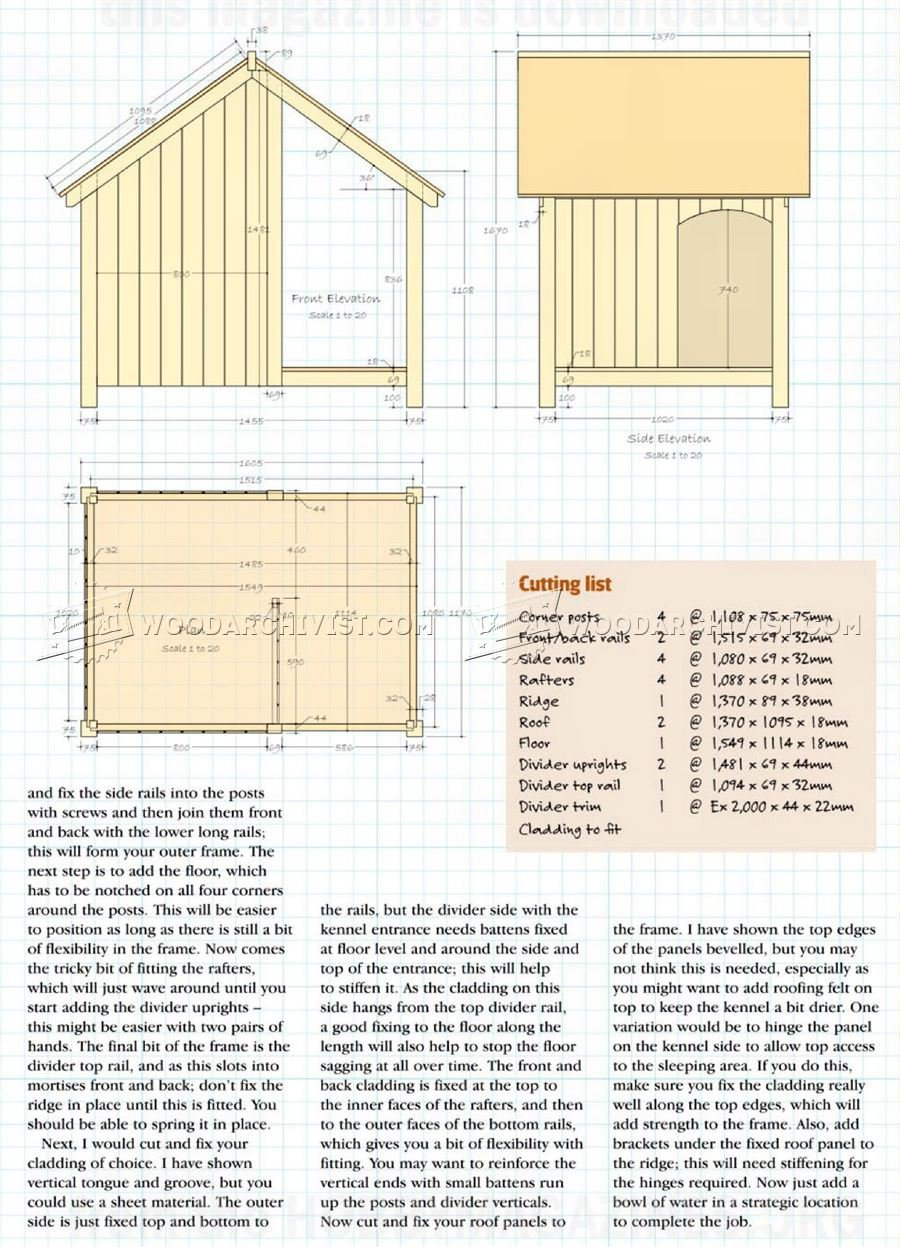 900x1247 Dog Kennel Plans Woodarchivist