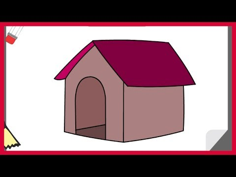480x360 How To Draw A Dog House Easy
