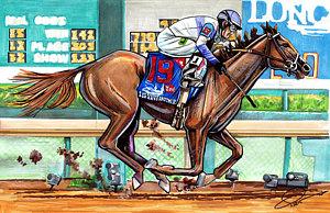 300x194 Kentucky Derby Drawings Fine Art America