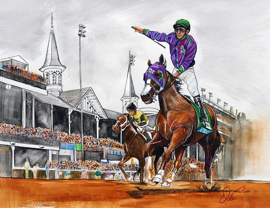 900x691 Kentucky Derby Winner California Chrome Painting By Dave Olsen