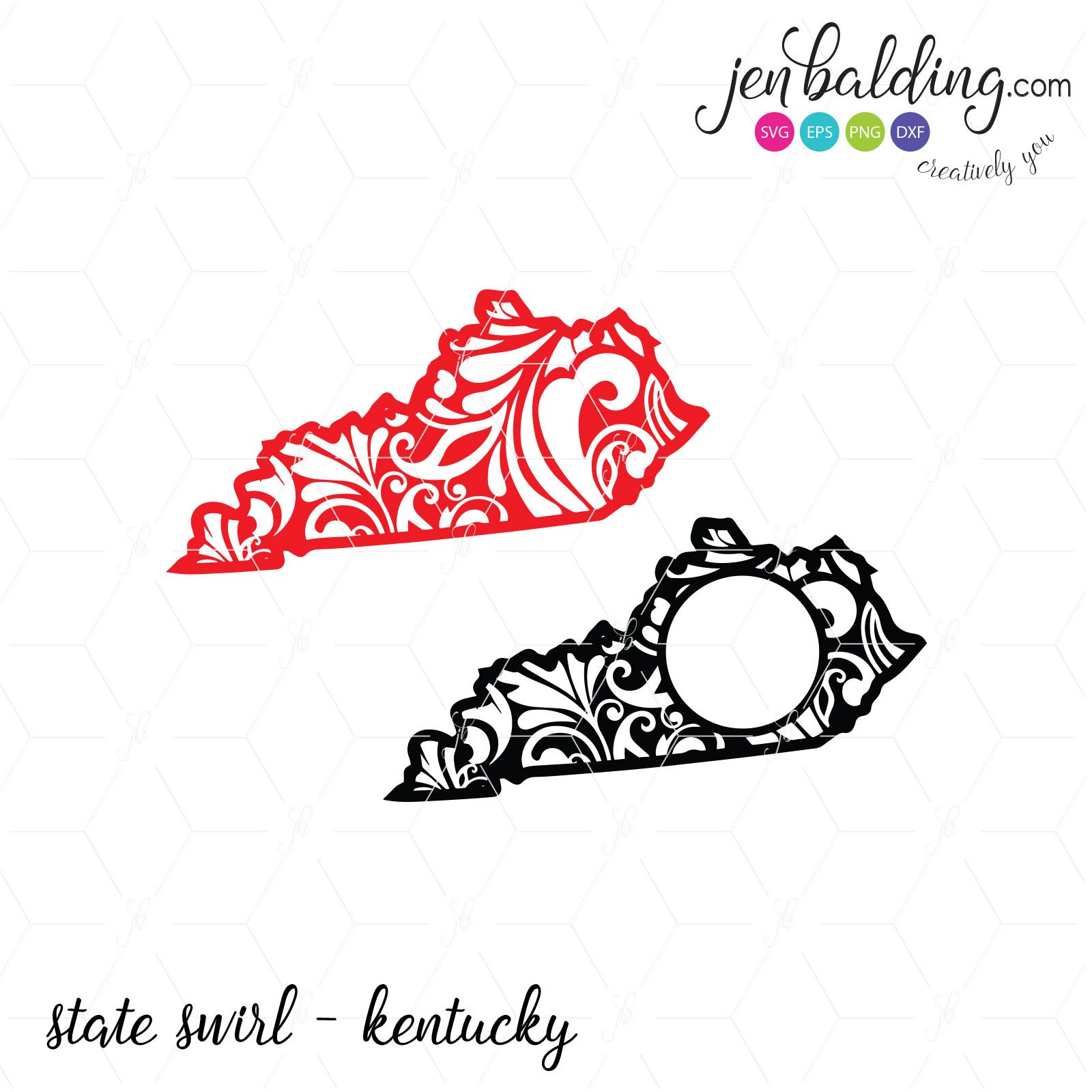 1600x1600 State Swirl Kentucky Sofontsy