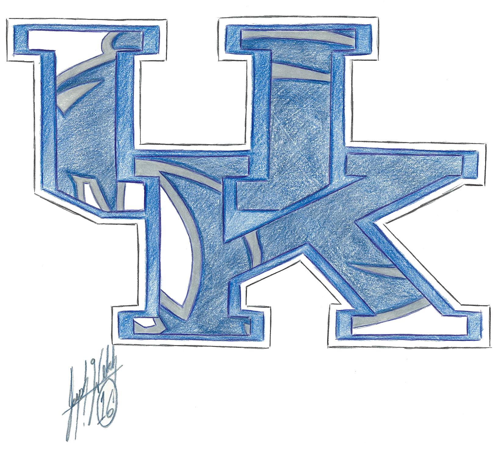 1632x1480 Kentucky Wildcats Drawings Amp Fine Art