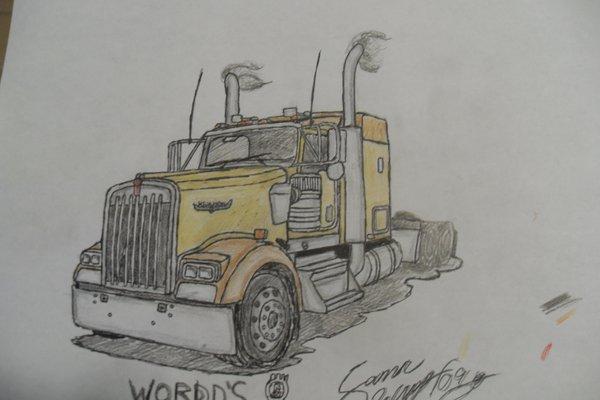 600x400 1999 Kenworth W900l Drawing By 18kybuschfan