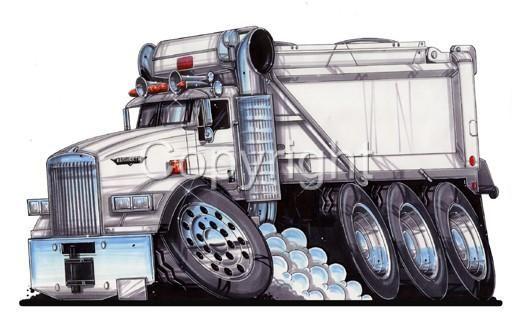 512x328 Cartoon Drawings Of Semi Trucks 2007 Kenworth T800 Dump Truck