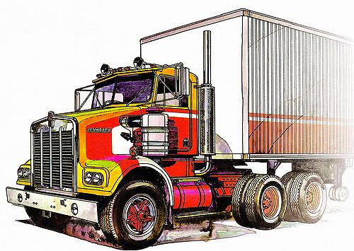 500x355 Kenworth Sar Drawing Classic Australian Truck. Deviatea