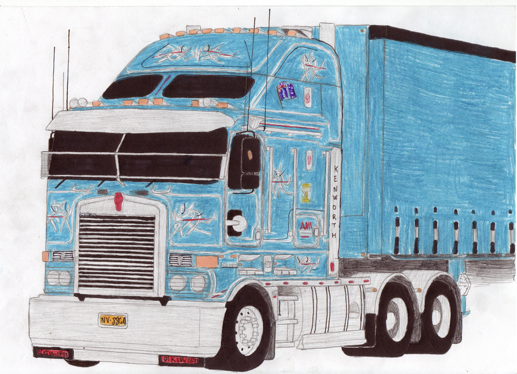 Kenworth Drawing at GetDrawings.com | Free for personal use Kenworth ...