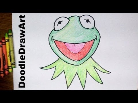 480x360 Drawing How To Draw Kermit The Frog's Face