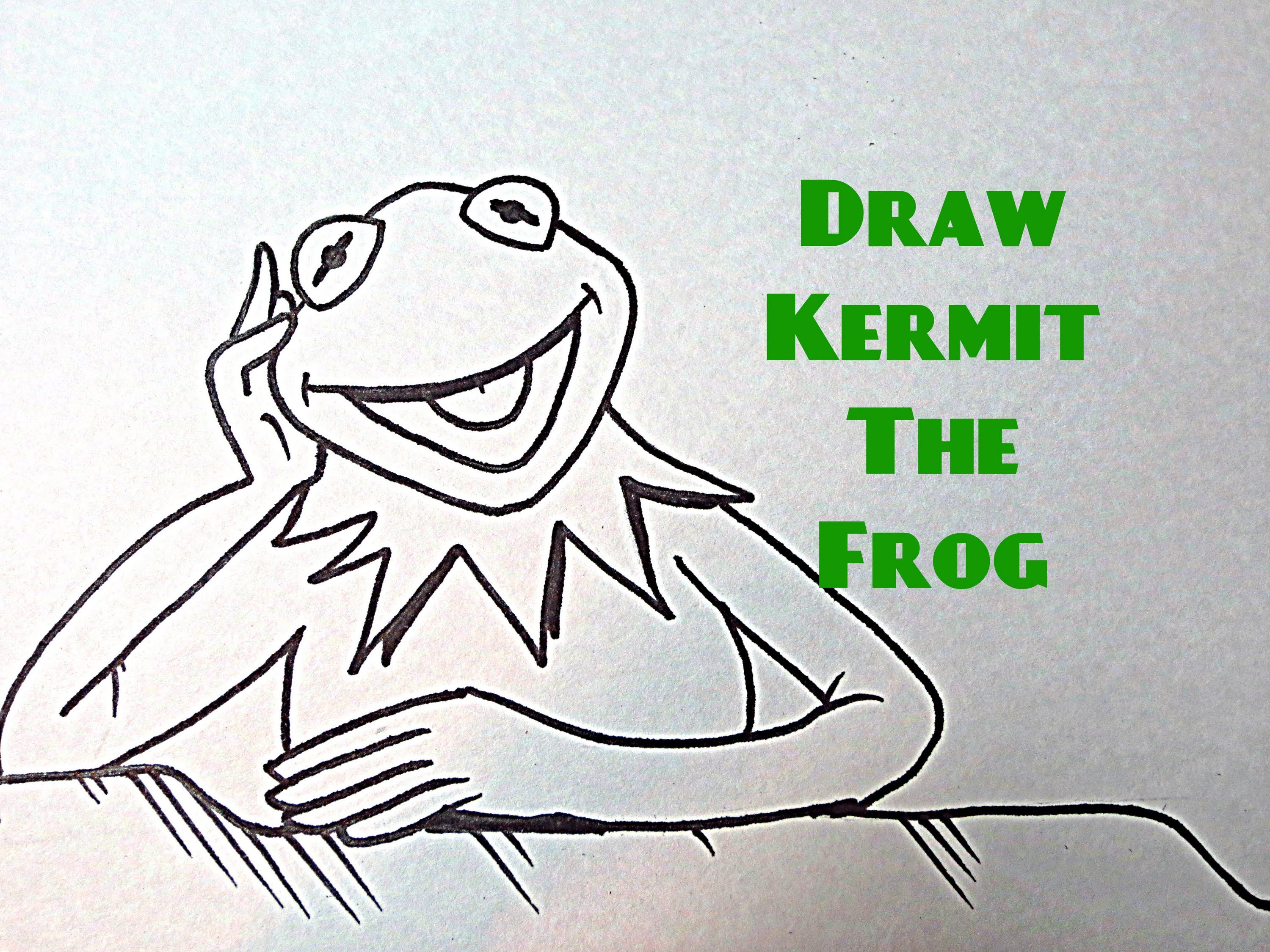 3000x2250 How To Draw Kermit The Frog