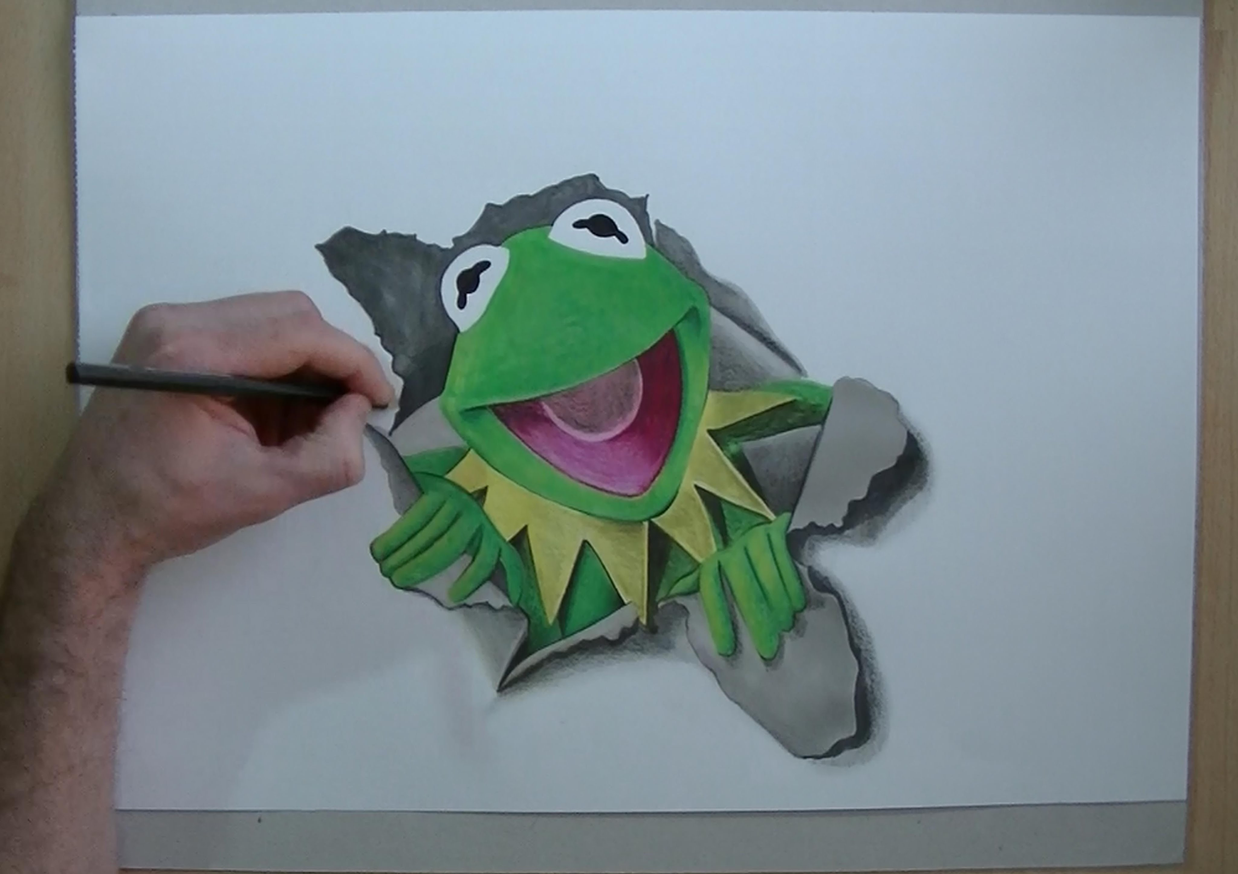 4096x2890 How To Draw Kermit The Frog'Sdrawing 3d