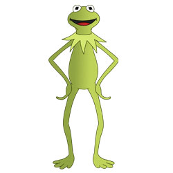 250x250 Kermit The Frog Cartoon Drawing Lesson
