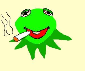 300x250 Kermit The Frog Smoking A Joint