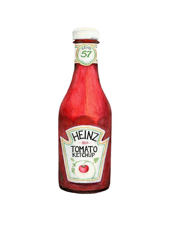 570x752 Heinz Tomato Ketchup Illustration D'Archivage De