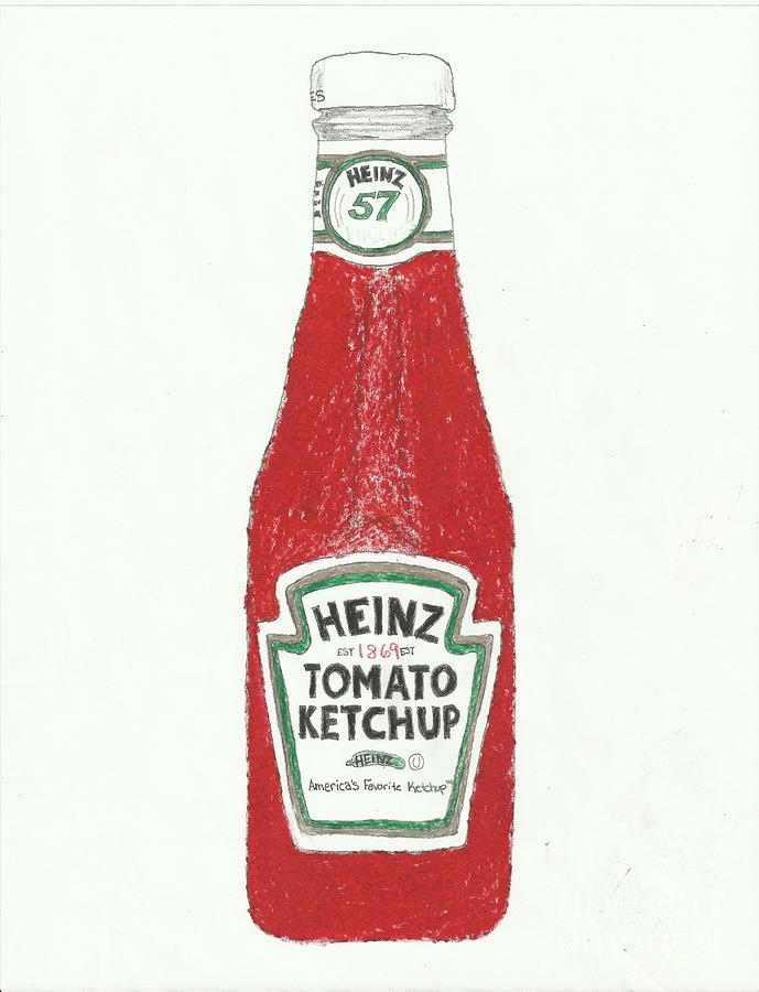 689x900 Ketchup Number 1 Drawing By Jasmine Norris Dixson