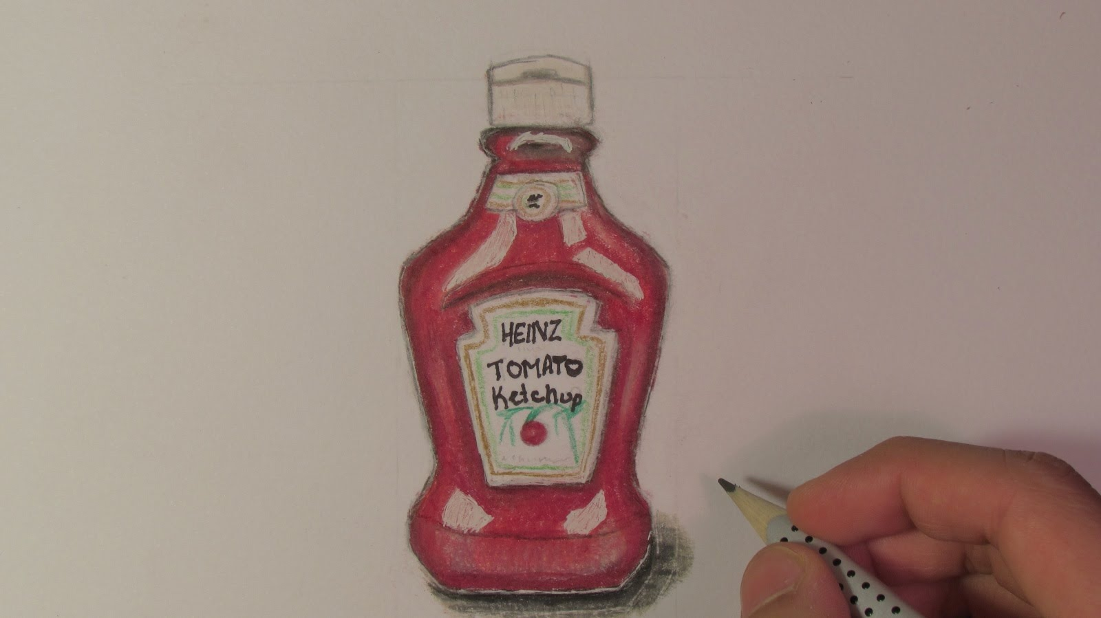 1600x899 Realistic Ketchup Bottle (Speed Drawing)