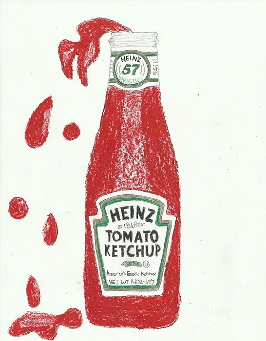 546x700 Splash Ketchup Drawing By Jasmine Norris Dixson
