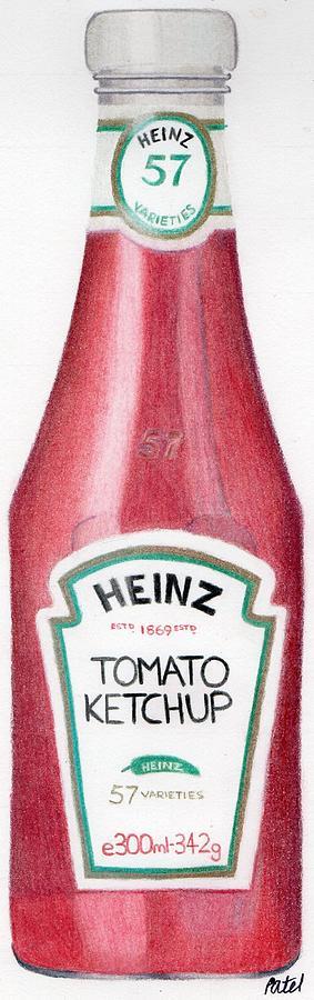 283x900 Tomato Ketchup Drawing By Bav Patel