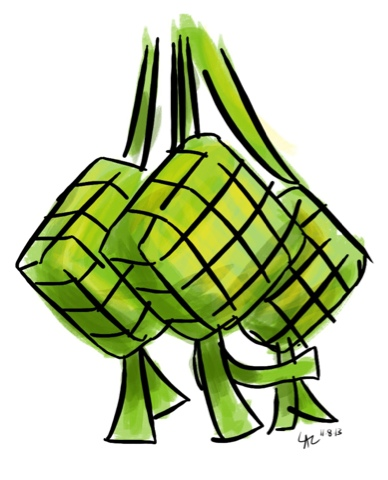 ketupat drawing at getdrawings com free for personal use hand print clip art black and white handprint clip art tattoo free