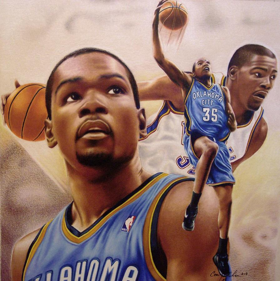 895x900 Kevin Durant Drawing By Cory Mckee