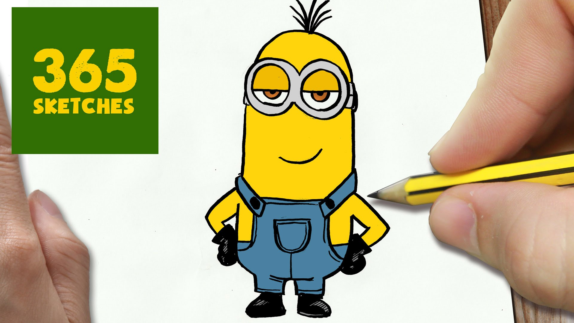1920x1080 How To Draw A Kevin Minion Cute Easy Step By Step Drawing Lessons