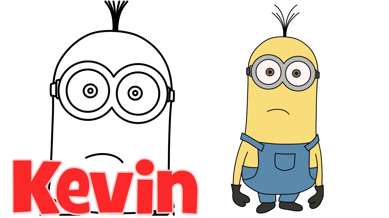 1280x720 How To Draw Minions From Despicable Me 2 Kevin Step By Step Easy
