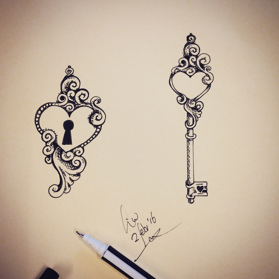 900x900 31 Cute Tattoo Ideas For Couples To Bond Together Tattoo, Key
