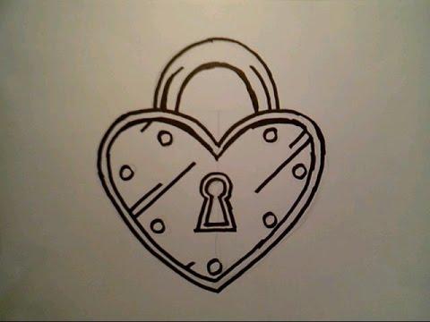 480x360 How To Draw A Heart Lock Padlock Locket London Bridge Locks