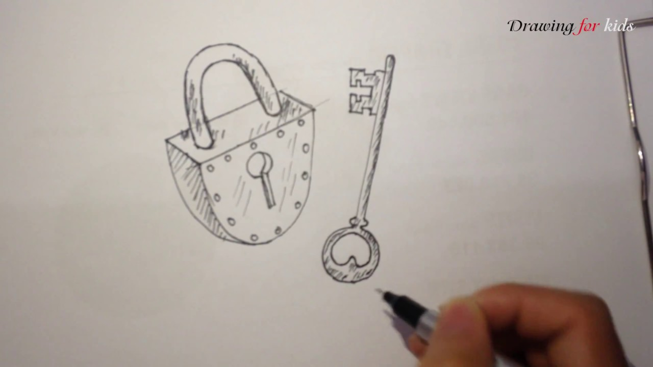 1280x720 How To Draw Lock And Key Simply, Easily And Quickly