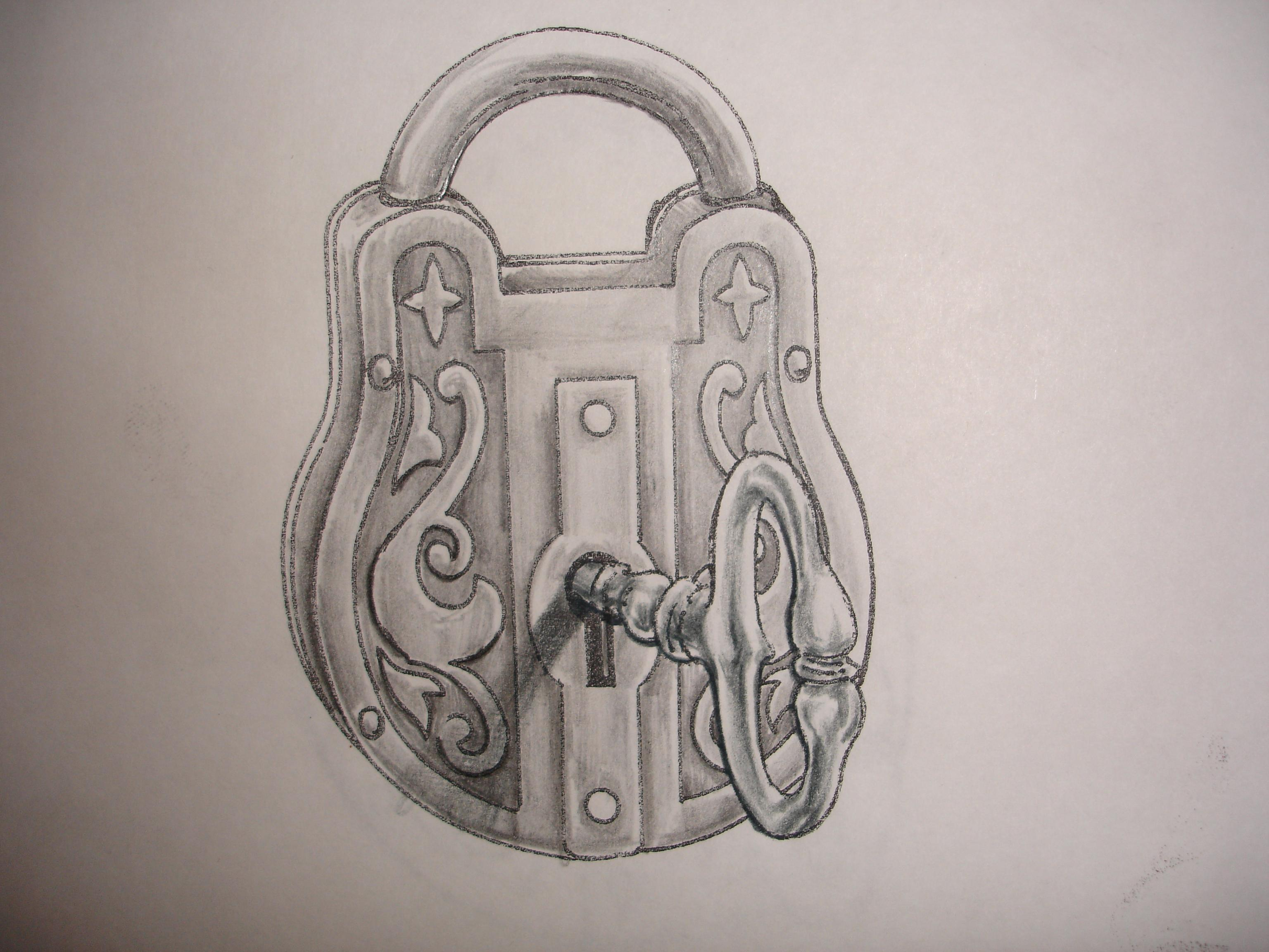 3072x2304 Lock And Key Drawing Adding A Lock And Key To My Tattoo ) For My